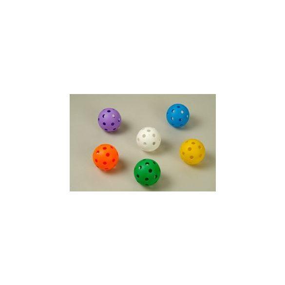 Floorball labda extra szett ultra soft puha biztonsági anyagból, gyermekenek iskolai óvódai és hobby célú használatra gyakorló 6 db-os labda sorozat élénk színekkel