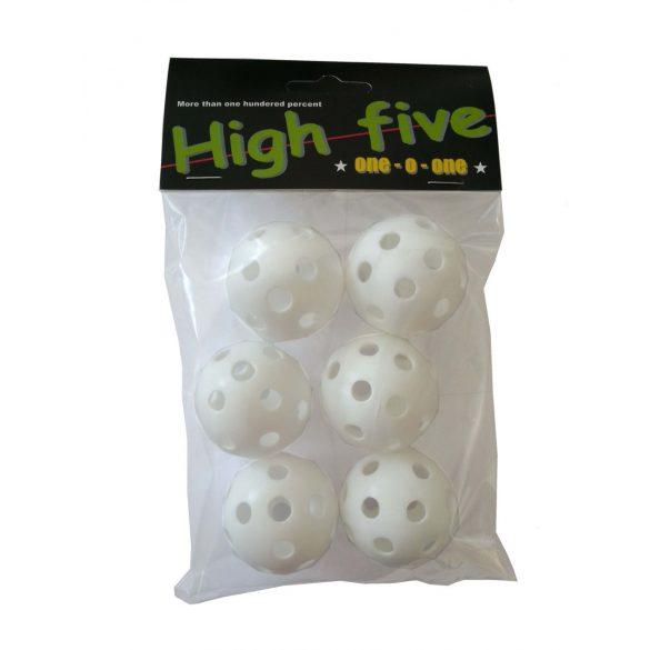 Műanyag golflabda csomag, 6 darab, Training