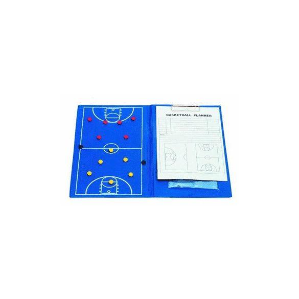 Mágneses taktikai mappa A/4 clippes írótömbbel kosárlabda, régi típusú palánk