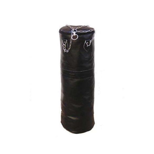 *Fedett bőr boxzsák 120x40cm (töltetlen)