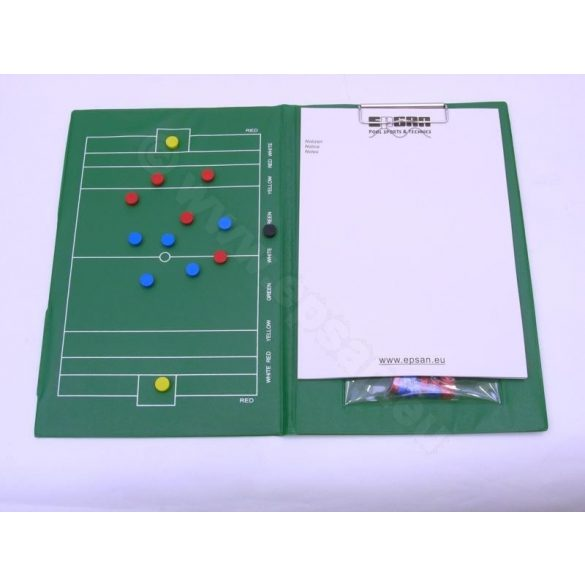 Tactic Sport taktikai tábla mágneses, vízilabda A/4méret pvc bevonatos