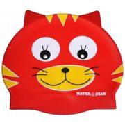 Epsan szilikon gyermek úszósapka,  macska piros