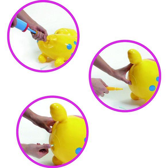 Cavallo Rody Lovacska sárga - gyermek premium ugráló állat sárga színben