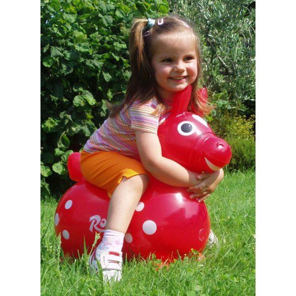 Cavallo Rody Lovacska piros - gyermek premium ugráló állat piros színben