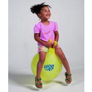 Gymnic Hop On Air ugráló labda áttetsző Sárga színben 45cm átmérő