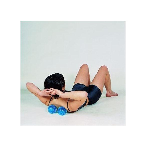 Gymnic  reflexball szett- tüskés masszázslabda 6cm (2db) (KÉK)
