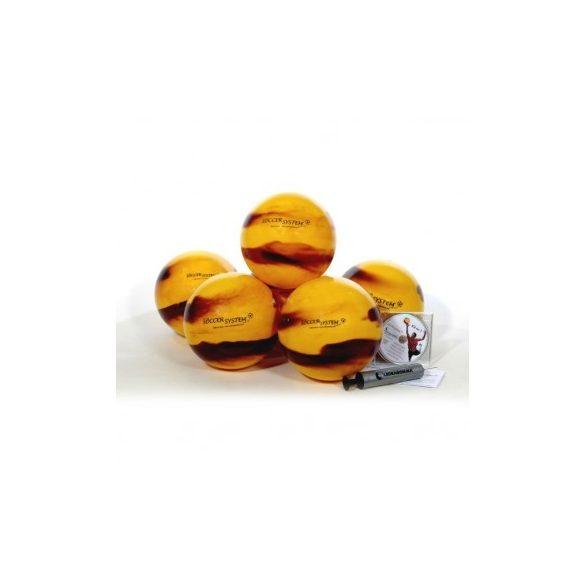 Football kapus gyakorló labda szett 12db különböző súlyú 22cm átmérőjű