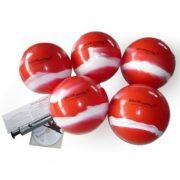 Football kapus gyakorló labda szett 10db különböző súlyú 22cm átmérőjű labda