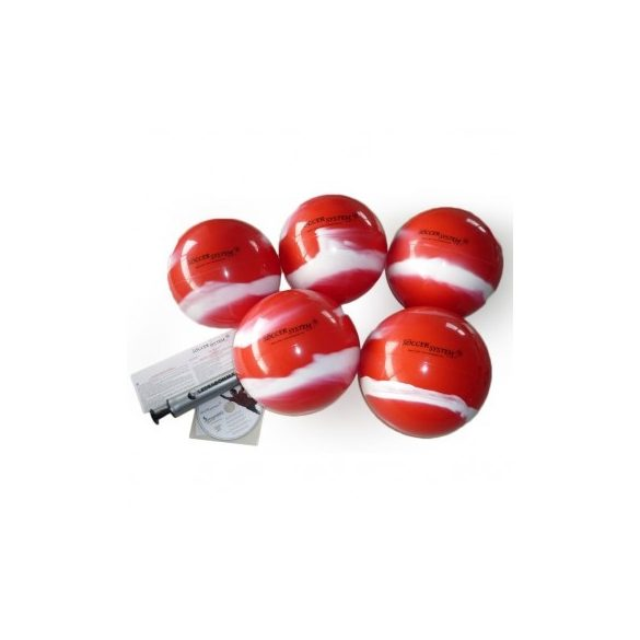 Football kapus gyakorló labda szett 10db különböző súlyú 22cm átmérőjű