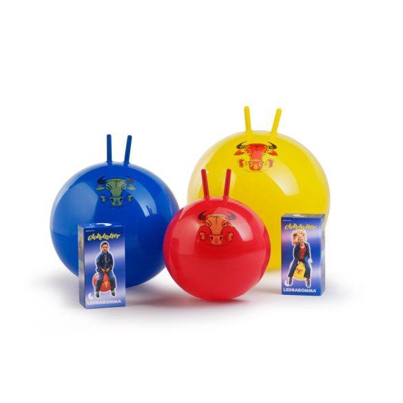 Globetrotter ugráló labda 1 db,  53cm átmérő, kék labda, bika díszítés