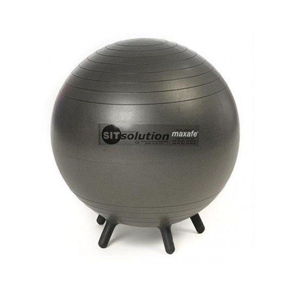 Sitsolution irodai ülőlabda 65 cm apró lábakkal, fekete gyémánt standard