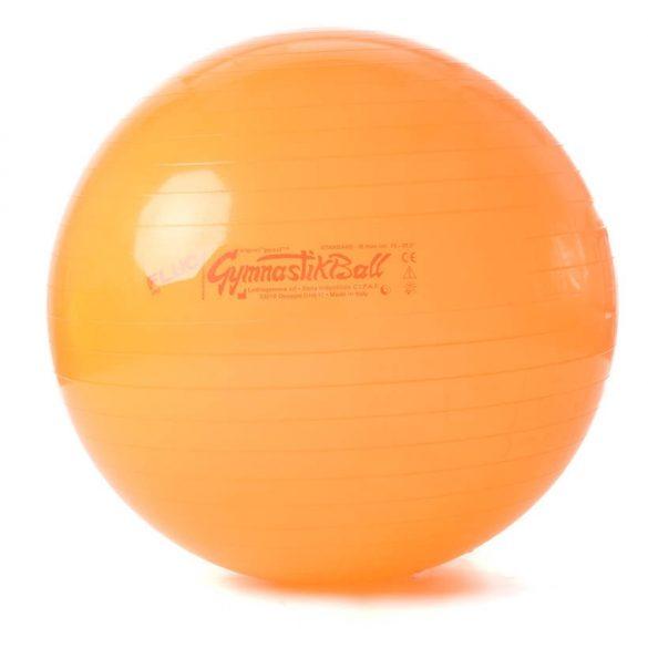 Fitball gimnasztika labda  65 cm NEON NARANCS szín, standard