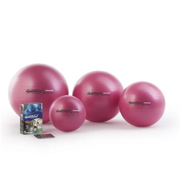 Fitball gimnasztika labda maxafe, 65 cm - pink, ABS biztonsági