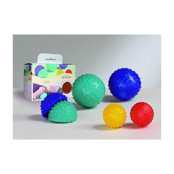 Activa Ball masszázslabda,  erős masszázs, 1db piros/1db sárga szett,