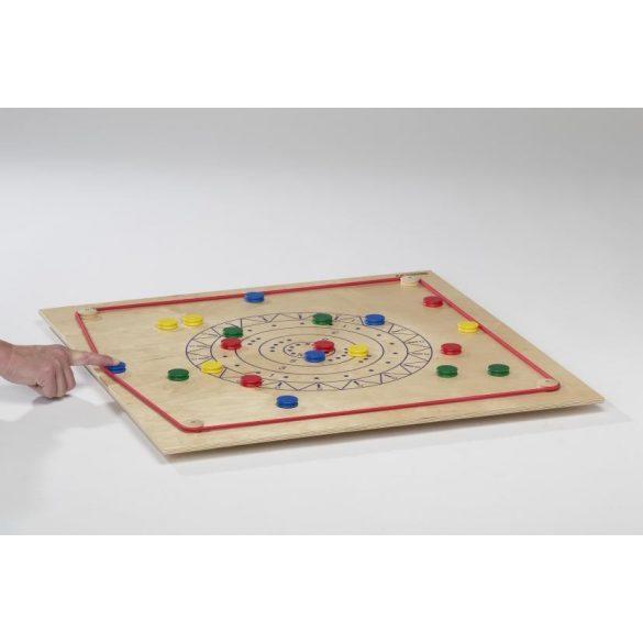 Asztali curling gyermekjáték