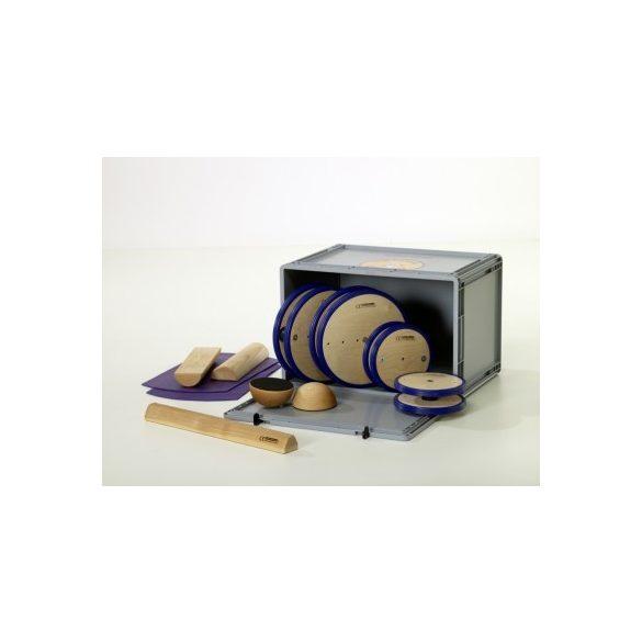Pedalo 9 részes egyensúlyozó készlet , mozgásfejlesztő doboz