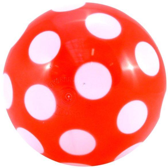Pöttyös műanyag labda 180 mm átmérővel , szelepesen fújható játéklabda