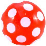 Színes pettyes műanyag labda 220 mm átmérővel , szelepesen fújható