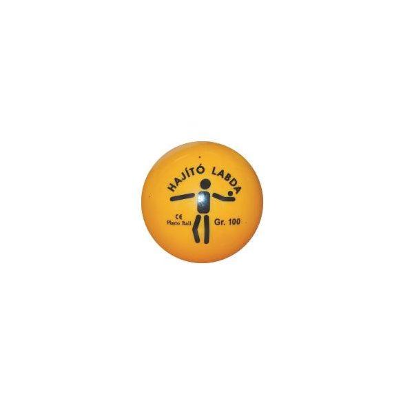 Dobólabda 100gr - hajítólabda PVC műanyag sárga