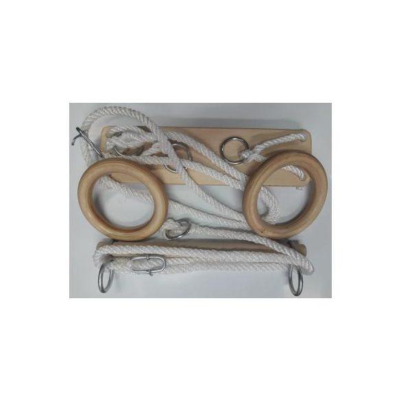 Tornakészlet garnitúra hintalappal, nyújtóval, tornagyűrűvel