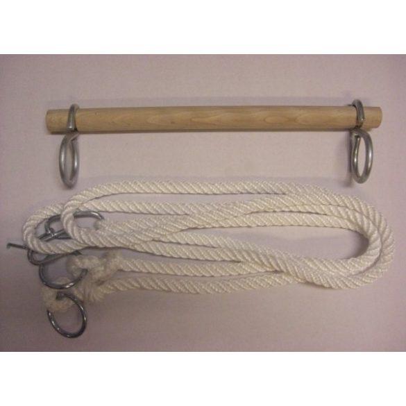 Trapézhinta (nyújtó) fából, hintaállványra , 1,7m kötélszárral