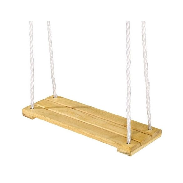 Laphinta fából 25x45 cm, 1,6 m fonatolt kender függesztő kötéllel, 60 kg-ig ajánlott