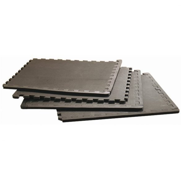 Capetan® Padlóvédő szett 4db60x60x1cm méretű fekete puzzle összekapcsolható elemből