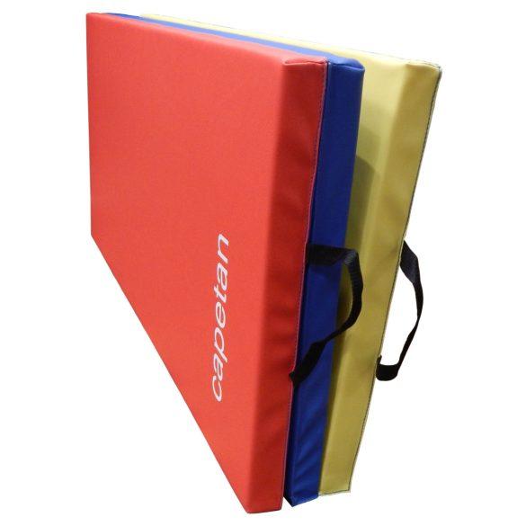 Capetan® Premium line 120x180x5cm PVC bevonatos 3 részbe hajtható tornaszőnyeg