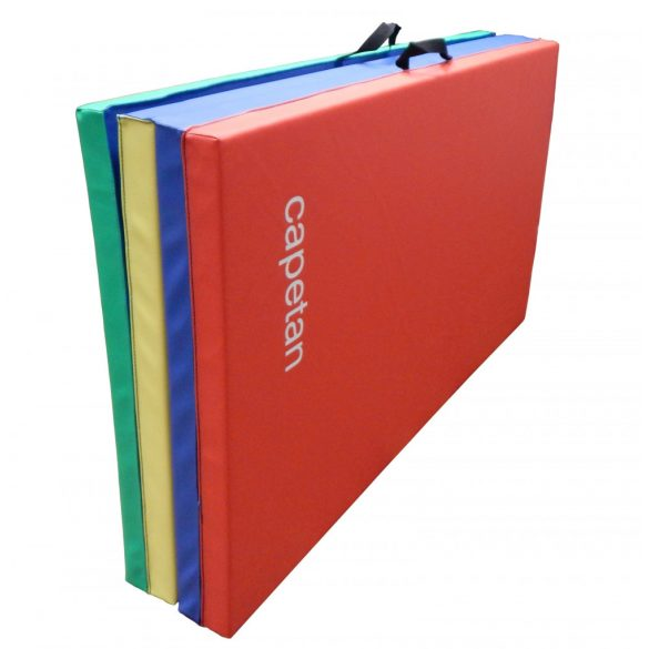 Capetan® 120x240x5cm Premium Line PVC bevonatos 4 részbe hajtható tornaszőnyeg