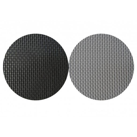 Capetan® Floor Line 100x100x2,5cm tatami sportpadló szürke/fekete, 90kg/m3 sűrűségű, védőszegéllye