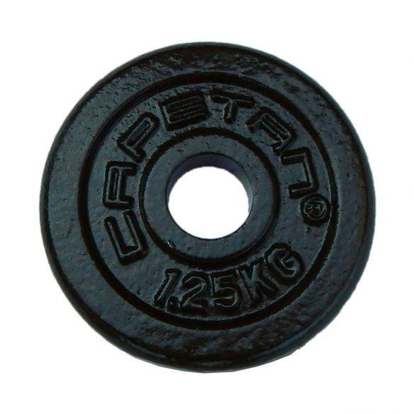 Capetan® 1,25kg acél súlytárcsa kalapácslakk felülettel 31mm lukátmérővel