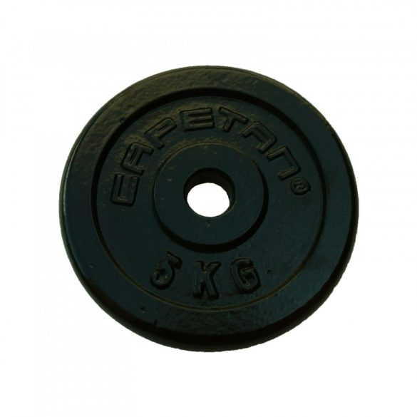 Capetan® 5kg acél súlytárcsa kalapácslakk felülettel 31mm lukátmérővel