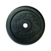 Capetan® 10kg acél súlytárcsa kalapácslakk felülettel 31mm lukátmérővel