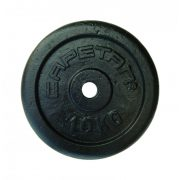 Capetan® 10kg acél súlytárcsa kalapácslakk felülettel 31mm lukátmérővel, tárcsaméret: 28x4cm
