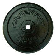 Capetan® 15kg acél súlytárcsa kalapácslakk felülettel 31mm lukátmérővel, méret 33x3,5cm