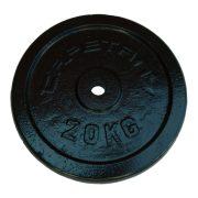 Capetan® 20kg acél súlytárcsa kalapácslakk felülettel 31mm lukátmérővel