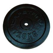 Capetan® 20kg acél súlytárcsa kalapácslakk felülettel 31mm lukátmérővel, tárcsaméret: 38,5x4cm