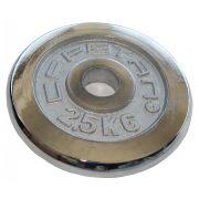 Capetan® chromozott 2,5Kg tárcsasúly 31mm lukátmérővel - krómozott súlytárcsa, méret:16x2,5cm