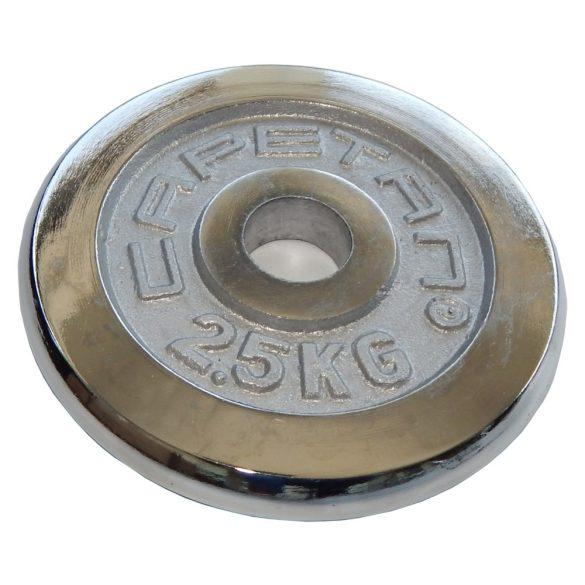 Capetan® chromozott 2,5Kg tárcsasúly 31mm lukátmérővel - krómozott súlytárcsa