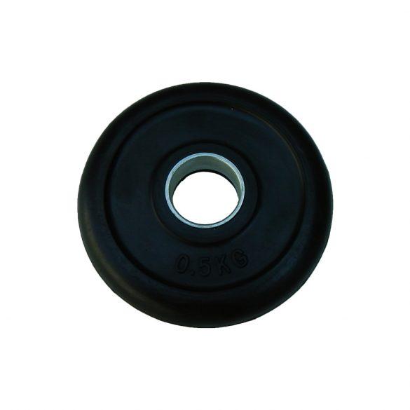Capetan® Gumírozott 31mm átm, 0,5Kg Standard súlytárcsa acél gyűrűvel