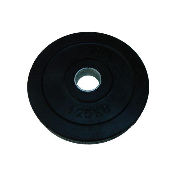 Capetan® Gumírozott 31mm átm, 1,25Kg Standard súlytárcsa acél gyűrűvel
