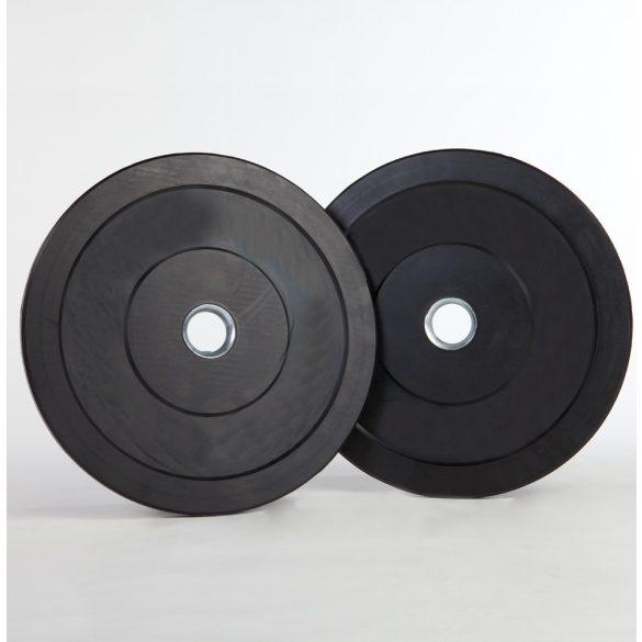 Capetan® Gumírozott 31mm átm, 5Kg Standard súlytárcsa acél gyűrűvel  a közepén