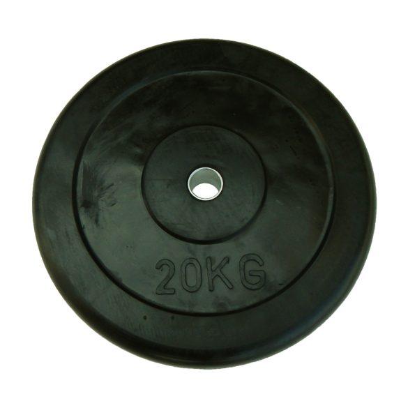 Capetan® Gumírozott 31mm átm, 20Kg Standard súlytárcsa acél gyűrűvel a