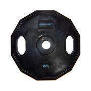 Capetan® Olimpiai 25Kg gumival bevont súly tárcsa két fogantyúval, szögletes