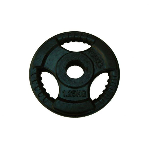 Capetan® Tri Grip gumírozott ergonómikus 1.25Kg tárcsasúly 31mm lukátmérővel, tárcsaméret:16x2cm