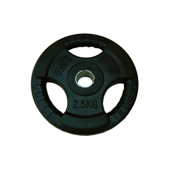 Capetan® Tri Grip gumírozott ergonómikus 2,5Kg tárcsasúly 31mm lukátmérővel