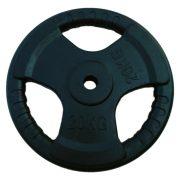 Capetan® Tri Grip gumírozott ergonómikus 20Kg tárcsasúly 31mm lukátmérővel, méret: