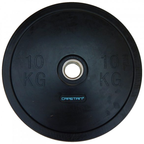 "Capetan® Professional Line Olympiai 10Kg ""Bumper"" gumi anyagú súlytárcsa 51mm"