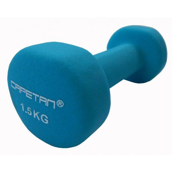 Capetan® Neoprene bevonatú 2x1,5Kg egykezes kézisúlyzó pár - neoprén súlyzó