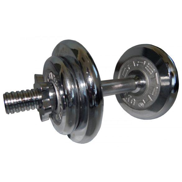 Capetan® 10kg Chromozott acél bővíthető egykezes súlyzószett